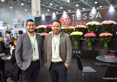 Carlos Sanchez and Carlos Nevada of Tessa Corp. They grow roses in Ecuador and supply 50 percent of their products to Russia. They see the demand increasing, not only from Russia, but from Europe and the US as well and therefore decided to expand the farm by 12 ha, to 114 ha. In April 2020 the first flowers will be harvested.