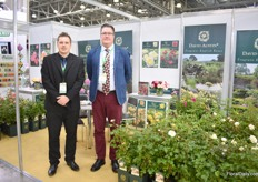 Gareth Minton and Aivars Mirseps of David Austin Roses. According to Mirseps, Russians are fond of garden roses.
