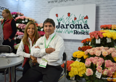 "Jaime Rodriguez and Helena Mate de Rodriguez of Jaroma Roses grow roses in Colombia. Before 2015, around 50 percent of their volumes were shipped to Russia, then after the crisis, it went down to 15 percent and they are now at 25 percent. ""In 2 years, we hope to be back at 50 percent again."""