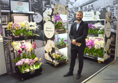 Evgeny Kozich of JMP Flowers. This Polish orchid, anthurium and rose grower (mainly orchids) was also showcasing their Trolley concepts for supermarkets.