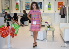 Marketing Manager Alla Titievskaya of Zao Rusinhim, whcih among others presented their brand Bona Forte.