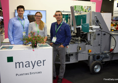 Stephan, Nadja and Damir of Mayer were present to promote the potting machines.