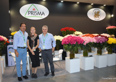 Edgar Llosquare, Kate Ekaterina Marina and Eduardo Guillio of Prisma. Prisma is a Colombian rose grower which grows over 45 different varieties.