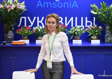 Julia Prokofeva from AmsoniA. AmsoniA is a well known bulbsupplier in the Russian market that is already supplying Russian tulp and lily growers over 15 years now.