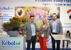 Kees van der Meij and Timmo Draaisma of Kbol together with their translator Julia Pryadko. Timmo and Kees said that the business is good and growing steadily. They are more than satified about the FlowersExpo.