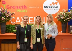 Natalia Dymowa, Alena Hryschevich and Lidia Tubabaeva. All tree ladies are of Greneth Plants and Straathof. The two companies recently joined forced.
