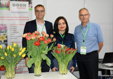 Willem and Wim Boon of Boon Export together with their translator Alisa Kitova.