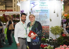 Santiago Giraldo of Enigma Flowers Isral together with his colleague from Holland, InesaGrytsanova.