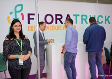 Alice Serbova of Floratruck. Flowertruck offers logistic solutions which they can provide all over the world.
