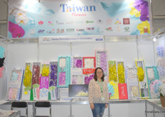 Abby Wang of Taiwan Flowers joined the expo as well. Taiwan flowers is a platform in Taiwan that helps growers in Taiwan to do business in Russia.
