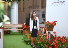 Sol Alejandra of Agro Miranda amazed everyone with the lovely Anthuriums from Ecuador.