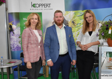 Olga Gerasimova, Alexander Dodonov and Daria Shakirova of Koppert. Alexander notices the number of Russian growers that want to control their pest biologically is growing.