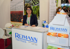 Valentina Kraibel of Reimann promoted the different shading solutions for in the greenhouse.