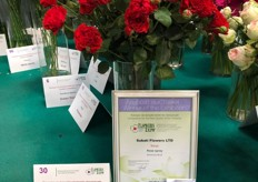 Bellalinda Brick, a variety of Continental Breeding, grown by Subati Flowers in Kenya won the gold medal in the category Spray Rose.