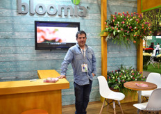 Andres Cartes of Bloomia. They grow tulips, export them but their biggest market is in Chile, where the farm is based.