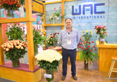 Martin Yepes of WAC. For the second year, they are exhibiting at the show.  Martin is standing next to Vanilla Ice- one of the white's with the highest production. In Colombia, they have a showroom at Unique.