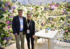 Juan Camilo and Carolina Isaza of Florecer. They grow hydrangeas in Medellin and mainly supply the US and Canada.