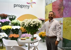 Ricardo Londono of Progeny, a chrysanthemum breeder. Their varieties are grown in Colombia, Ecuador, and Mexico. Now, the first varieties are being trailed in the Netherlands.
