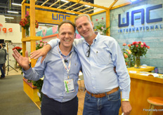 Martin Yepes of WAC International with Jeroen de Kuijer of Brandkamp, who was visiting the show.