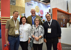 David Coak (in the back) of SuperFloral, Florist's Review and Canadian Florist – who had a booth- with Neal and Angela of Lane Florist,  Cherrie Silverman, and Thomas of America Agroproducts – all from the US – visiting the show.