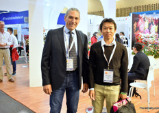 Gianfranco Fenoglio of Selecta one and Naoaki Kanamuru of Kaneko Seed, a distributor of Selecta one in Japan.