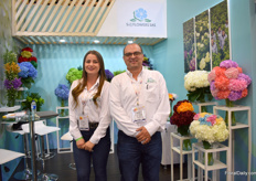 Daniela Alzate and Diego Ramirez of S&J Flowers. This family company used to sell its flowers to other growers for export, but are now also exporting themselves. They grow their hydrangeas on 35ha and exporting them to the US, Canada, Kazakhstan, South Africa, France, The Netherlands, and the UK.