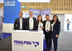 The team of Panalpina in the booth A Sea of Change. Snice they acquired CargoMaster, their market  share in sea transport increased sharply – to over 85%. Soon, the name will change to DSV as this company took over Panalpina.