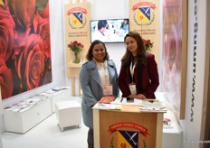 Carolle Garcia and Luz Forero Monccado of University Military Nueva Granada. They are currently working on finding a good biological control product for fight terranychus urticae, a worldwide pest in flowers and fruits.