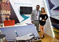 Oscar Fabian Agudelo and Jeymy Aguirre of Cathay Pacific Cargo. It is an airline that goes to Asia – and Japan is their biggest destination.