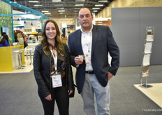 Maria Jose Vascona and Roberto Villacis of Rosaprima, the biggest rose farm in Ecuador, were also visiting the show.