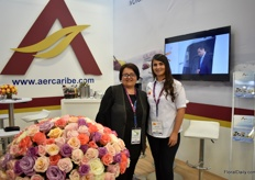 Martha Lucia Guttierez and Johana Bermudez Salazar of Aer Caribe Cargo, a Colombian cargo company that charters and consolidates cargo.