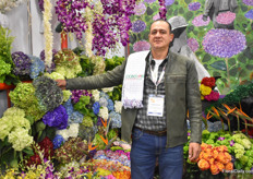 Venancio Giraldo Ospina of Condor Andino, a hydrangea grower who grows hydrangeas on 40 ha and ship them mainly to Miami.