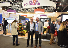 Juan Jose Albuja of Much Flowers and Alejandro Martinez of Expoflores. The FlorExpo Ecuador 2020 will be (with 146 stands) bigger than last year (115 stands). The dates of the show will be announced soon (end of October 2019).