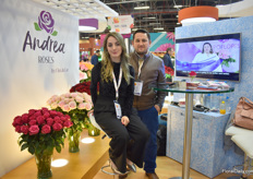 Also Andrea Jaramillo and Juan Houdek of Andrea Roses are presenting their roses at the Ecuadorian pavilion.