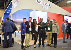 "The team of Avianca cargo. ""We are the main partner for agriculture in Colombia and a key player for Colombia and Ecuador for the transport of Flowers. We connect Latin America with the world."" During the show, they launched their new freighter flight to Dallas, USA."