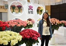 Amanda Gomez Garcia of Flores san Juan. They grow roses, carnations and spray carnations on 120 ha (80ha of roses and 40 ha of carnations) and their main market is the US.