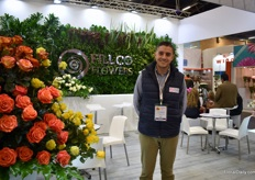 Juan David Ocampo Sanchez of Fillco Flowers. They grow roses and carnation on 26 ha (15 ha of roses and 11 ha of carnations) and they see the demand for carnations increasing.