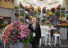 Karen Silva of Andrean Field. They grow over 20 types of flowers in Bogota, on 40 ha and mainly export to Japan, The Netherlands, Australia and the USA.