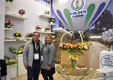 Orlando Suarez and Marjorie Morales of Golden Flowers, an importer in Miami. They represent 40 farms and are doing business with them since their estabishment, 28 years ago. They mainly supply wholesalers and small supermarkets and a few e-commerce websites in the US.