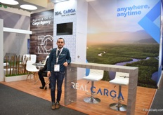 Andres Beltran of Real Carga. At the show, they presented their new brand image.