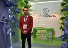 Juan Gabriel Gomez of Candelaria Flowers. He grows hydrangeas on 7ha in Medellin and is looking for more varieties to grow. His main market is Europe, Asia and the Middle East.