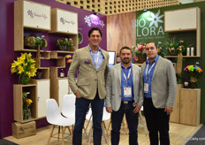 Nick MacDonald of Vaselife, Diego Castano  and Sebastian Guerra of Bioflora.