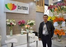 Jose Javier of Flores Rionegro. This lily grower also grows pompon, gerbera's and more varieties in the Rionegro region and mainly supplies the US market.