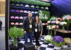 David Bojanini and Monica Tamayo of Sky Flowers. They grow and export hydrangeas and lopidium to mainly Russia, the Netherlands and the US.