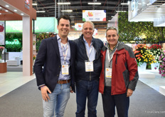 William Hogewoning of J.P. Hogewoning, Maarten Alkemade and Leonardo Ponce of Alkemade visiting the show.