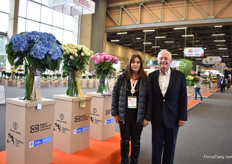Augusto Solano, Asocolflores President, and Christina Uricoechea, Proflora Director.  In 1991, they organized their first show with 40 companies and now it has grown to an international show with over 200 companies.