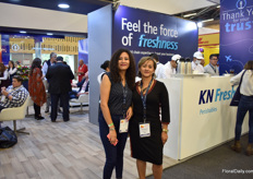 Katherine Diaz and Liliana Vargas of Kuehne and Nagel.