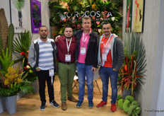 Orocosta, who started a farm producing tropical flowers in Costa Rica about 20 years ago. By now, the farm grew to 50 hectares and produces almost 80 different varieties. Left to right Jose, Etmer Loria, Jose Fajardo, and Ivan Saenz.