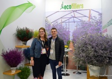 Ecofillers, a grower of statice, limonium, and craspedia from Bogota. On the photo Juan Fonnegra, together with Kritin Gilliland from Gardens America.