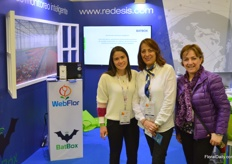 Redesis is a software provider. Their applications can be used by growers in their commercial operation and production. The company has been in business for 35 years now. From left to right Laura Torres, Nancy Gomez, and Clara Ramirez.